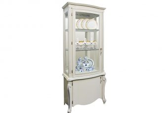 Шкаф с витриной Луиза ММ 257-01 белая эмаль