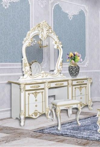 Зеркало Дольче Вита СДВ-06 белый глянец/золото