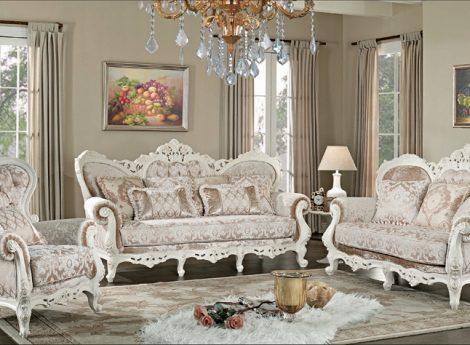 Классическая мягкая мебель для гостиной