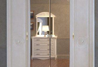 Шкаф 4-х дверный Да Винчи СД-01 слоновая кость
