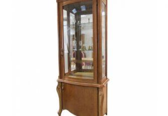 Шкаф с витриной Луиза ММ 257-01/01 коньяк