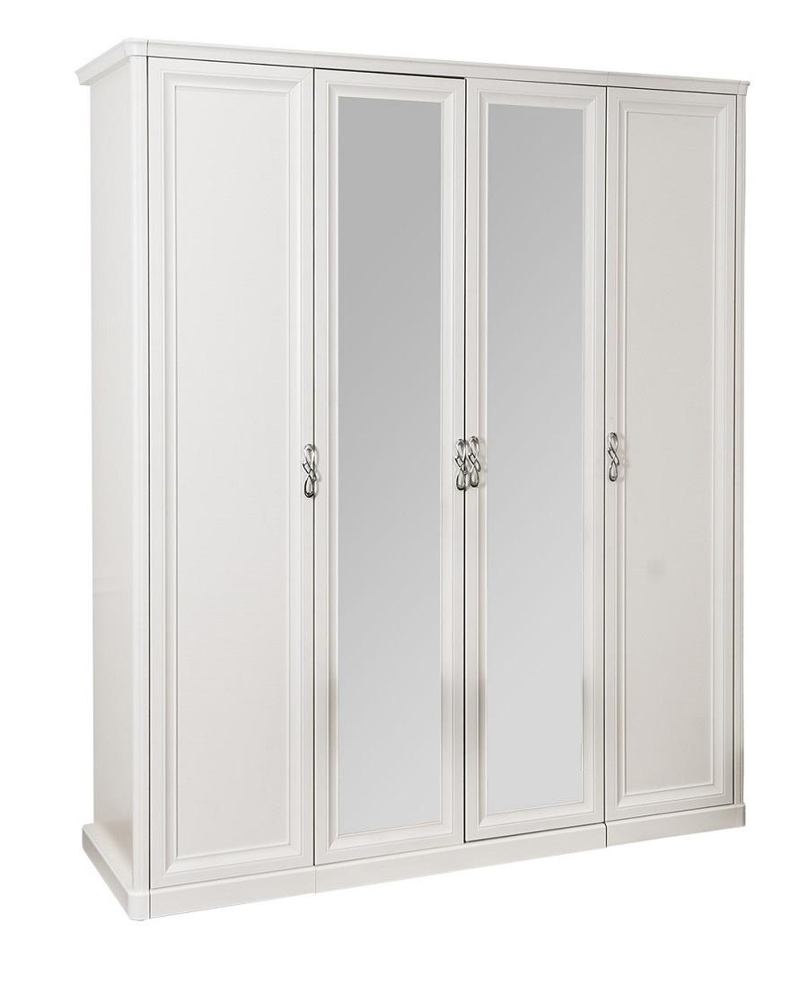 Шкаф Мишель белый перламутр глянец