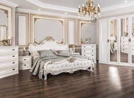 Белые спальные гарнитуры