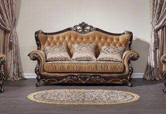 Комплект мягкой мебели Прометей орех